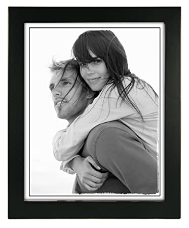 malden international designs linear classic wood picture frame 8x10 black