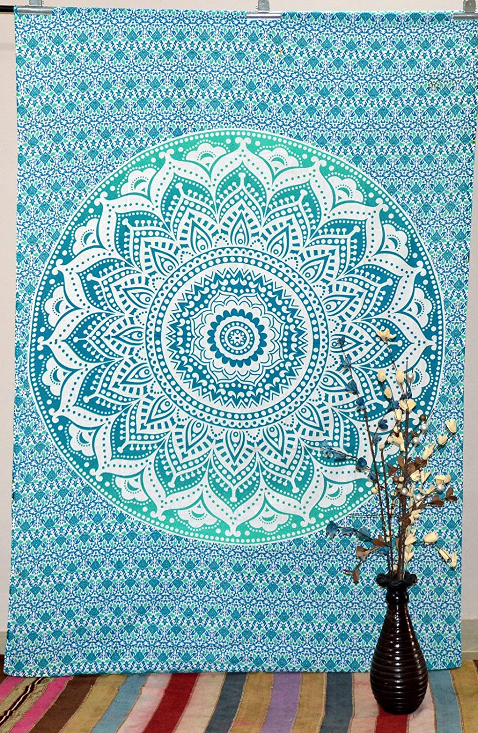 Indian Mandala Wall Twin Tapestry Throw Tapestries Hippie Wall Hanging Bed Cover Art
