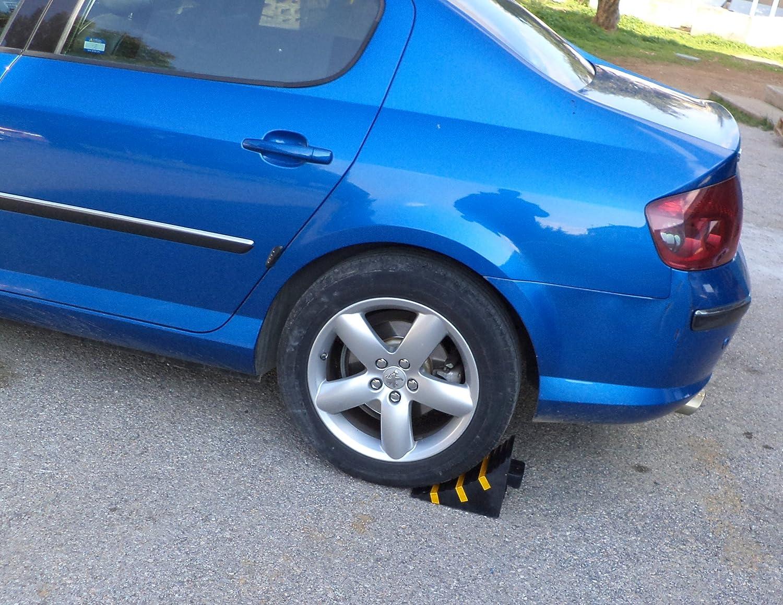 SNS SAFETY LTD RWC-1 Cuña para ruedas de Coches, Goma Servicio Pesado, Amarillo Negro, Dimensiones 25 cm x 16 cm x 19 cm (paquete de 1): Amazon.es: Coche y ...