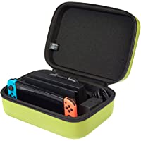 AmazonBasics - Funda de viaje y almacenamiento de juegos, para Nintendo Switch - Amarillo neón
