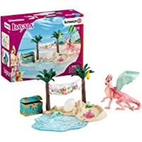Schleich 42436 Treasure Island with Dragon Mama and Dragon Baby Playset