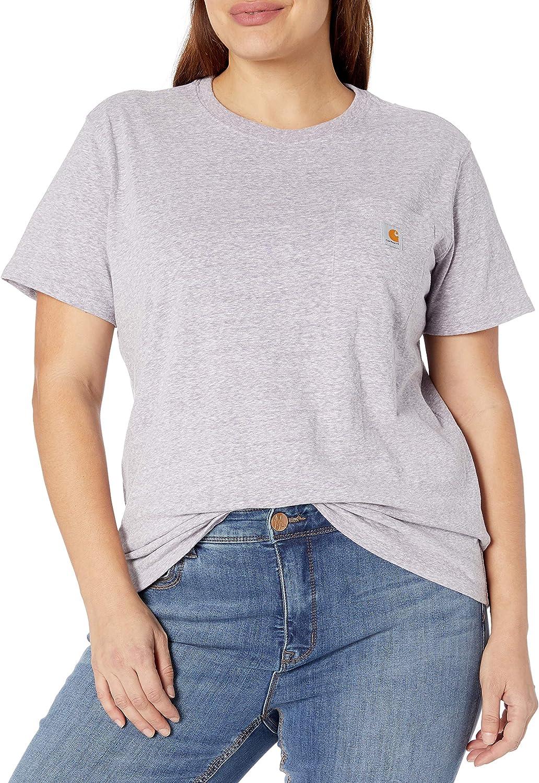 Regular and Plus Sizes Carhartt Womens K87 Workwear Pocket Short Sleeve T-Shirt