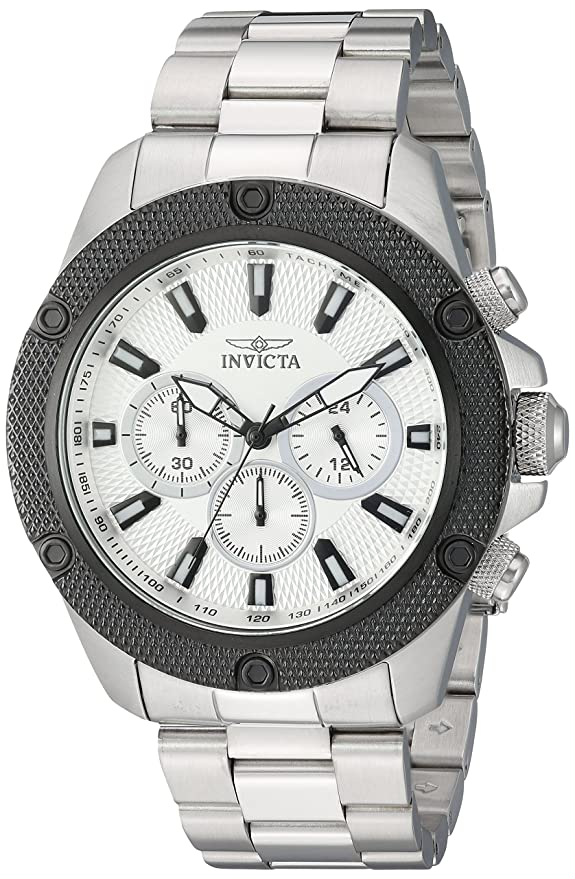 Amazon.com: Invicta Mens Pro Diver Quartz Stainless Steel Casual Watch, Color:Silver-Toned (Model: 22718): Watches