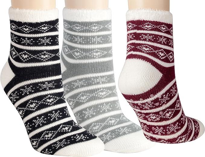 6 P Damen Mädchen Socken Thermo Schwarz Winter Warm Baumwolle  39-42 Kuschelsock