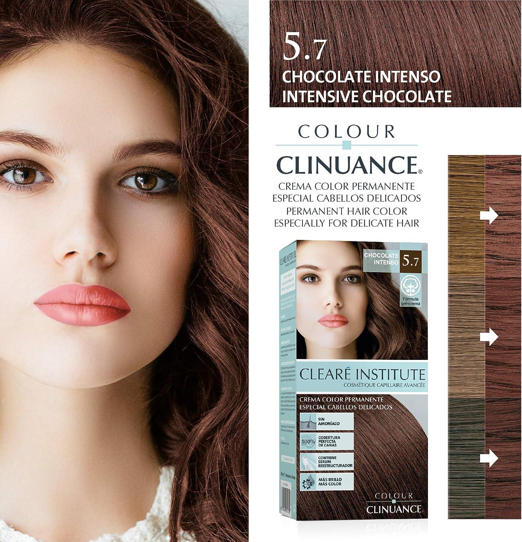 Colour Clinuance. Coloración Permanente Cabellos Delicados Sin Amoniaco | Más Brillo, Color Intenso, 100% Cobertura | 5.7 Chocolate Intenso | 170ml