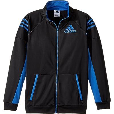 adidas Kids Boy's League Track Jacket (Big Kids) Black/Blue Large