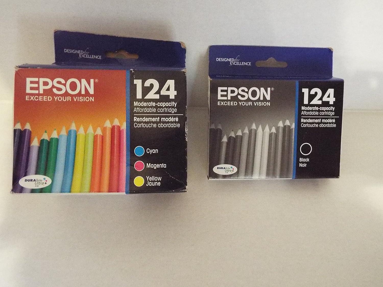 Pack de 4 cartuchos de tinta originales Epson 124 en embalaje ...