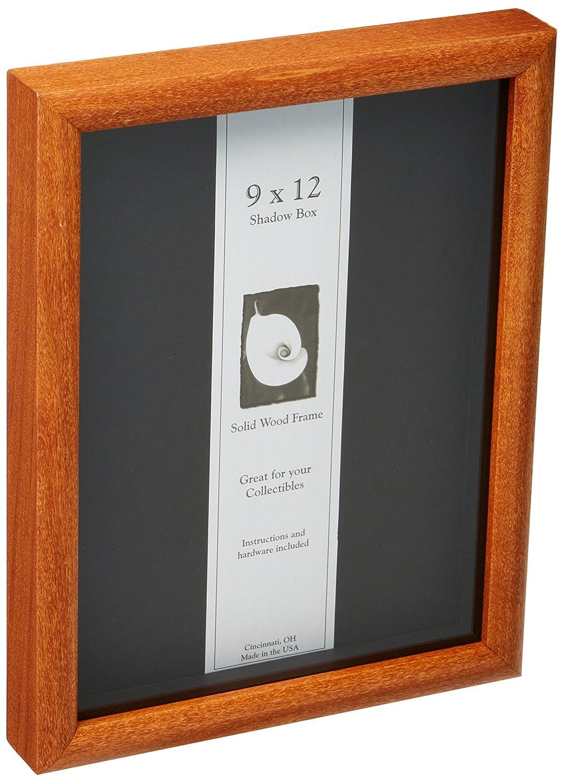 Amazoncom 9x12 Shadow Box Wood Frame 1516 Deep Black