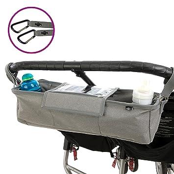 BTR Kinderwagen Organizer und Handy Halter /& wasserfester Regenschutz.