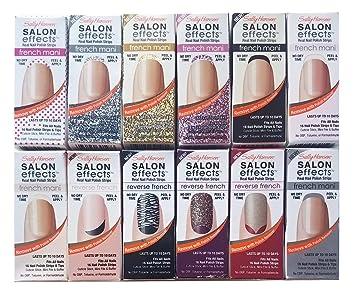 Amazon.com : Sally Hansen Salon Effect Real Nail Polish Strips, 10 ...