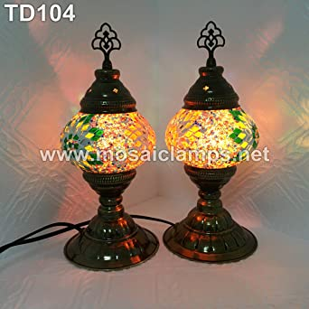 Pair of turkish mosaic table lamps amazon pair of turkish mosaic table lamps aloadofball Images