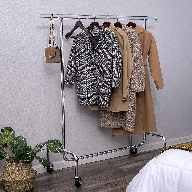 Amazoncom Songmics Heavy Duty Clothes Garment Rack Maximum Capacity 2866Lbs