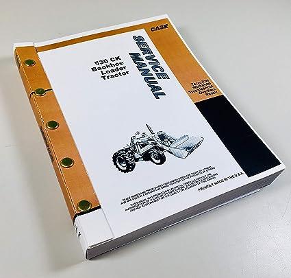Amazon.com: Caja 530 Ck Tractor Cargador Repuesto Reparación ...