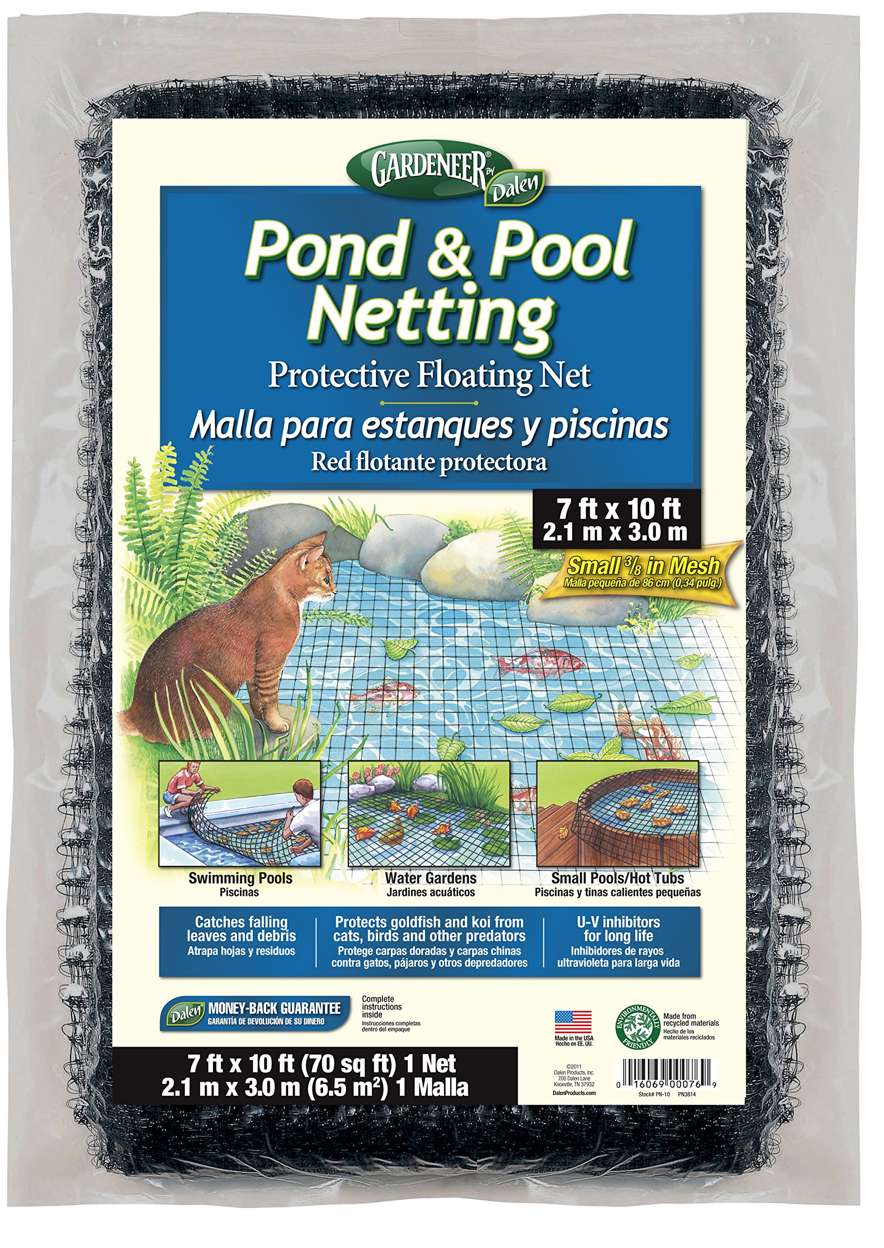 Dalen PN10 Gardeneer By Pond & Pool Netting Protective Floating Net 7' x 10'