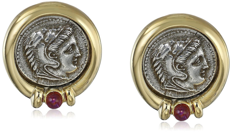 Ben-Amun Jewelry Roman Coin Clip-On Earrings 77113