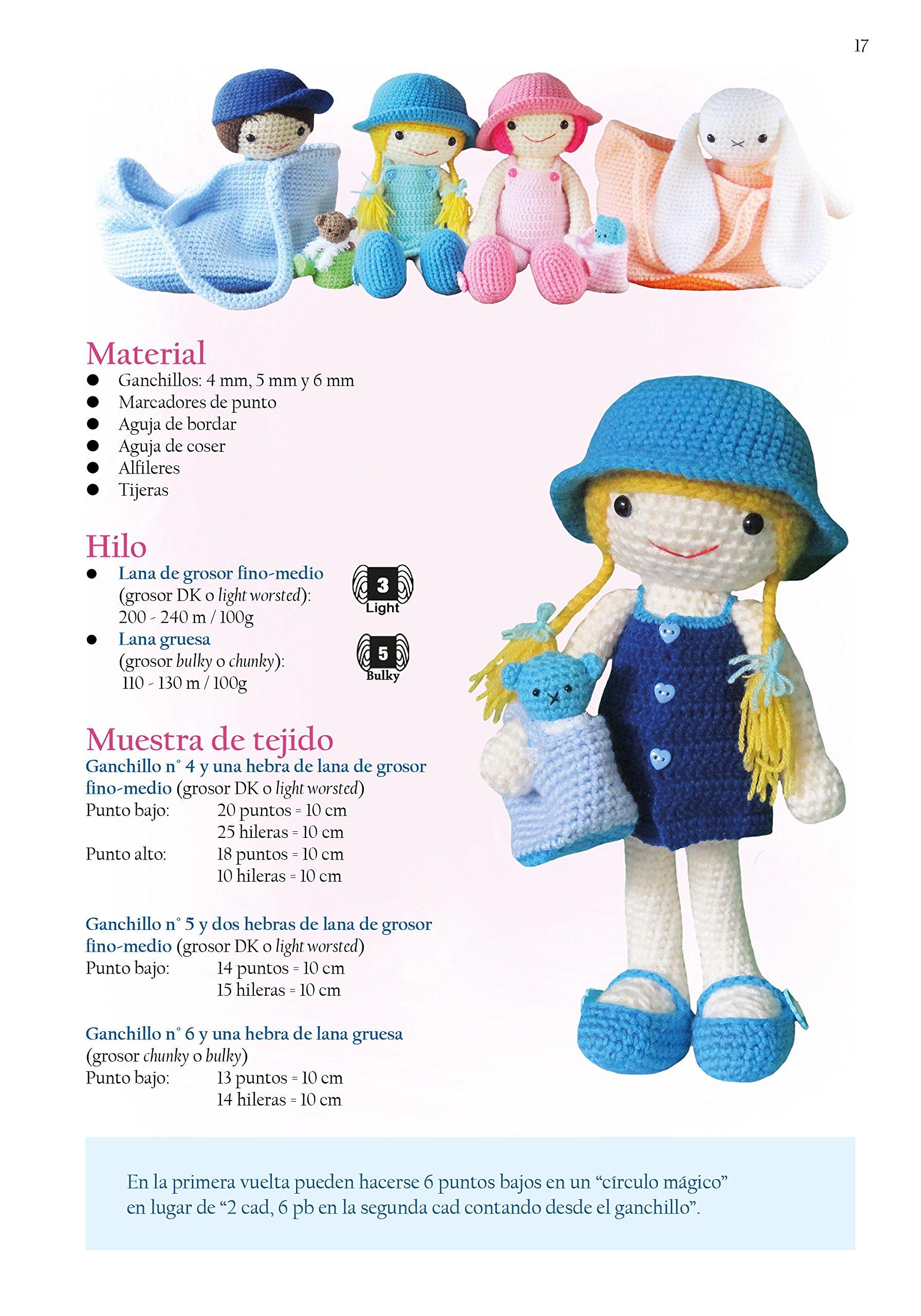 Muñecas con vestidos: Patrones de amigurumi en ganchillo (Patrones ...