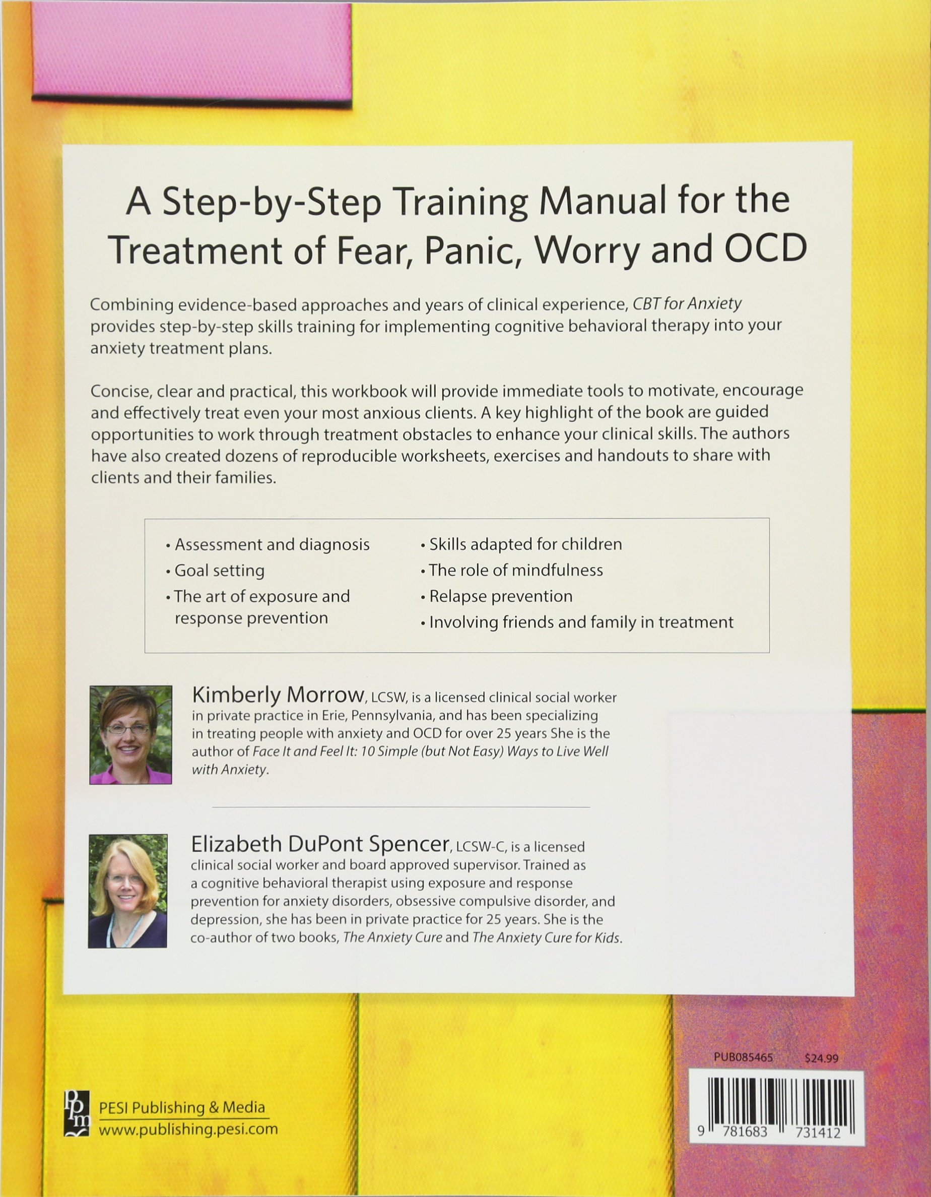 Cbt for anxiety: a step-by-step training manual for the treatment.