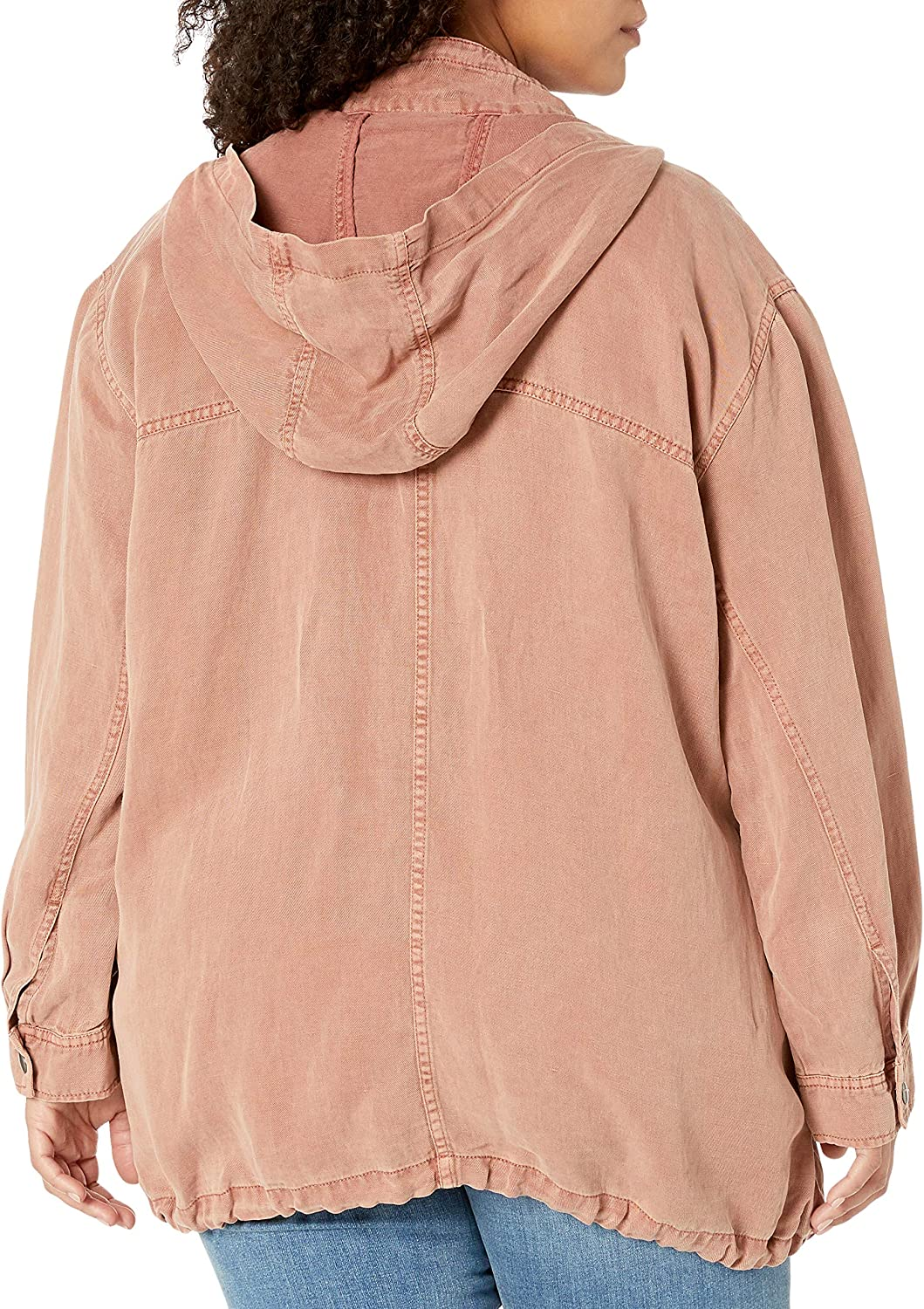 Lucky Brand Womens Size Plus Hooded Jacket