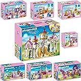 PLAYMOBIL 6848 Grand Chateau de Princesse - Set complet - composé de 6848 6850 6851 6852 6853 6854 6855 6856