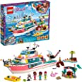 LEGO Friends Rescue Mission Boat 41381 Toy Boat Building Kit with Mini Dolls and Toy Sea Creatures, Rescue Playset Includes N
