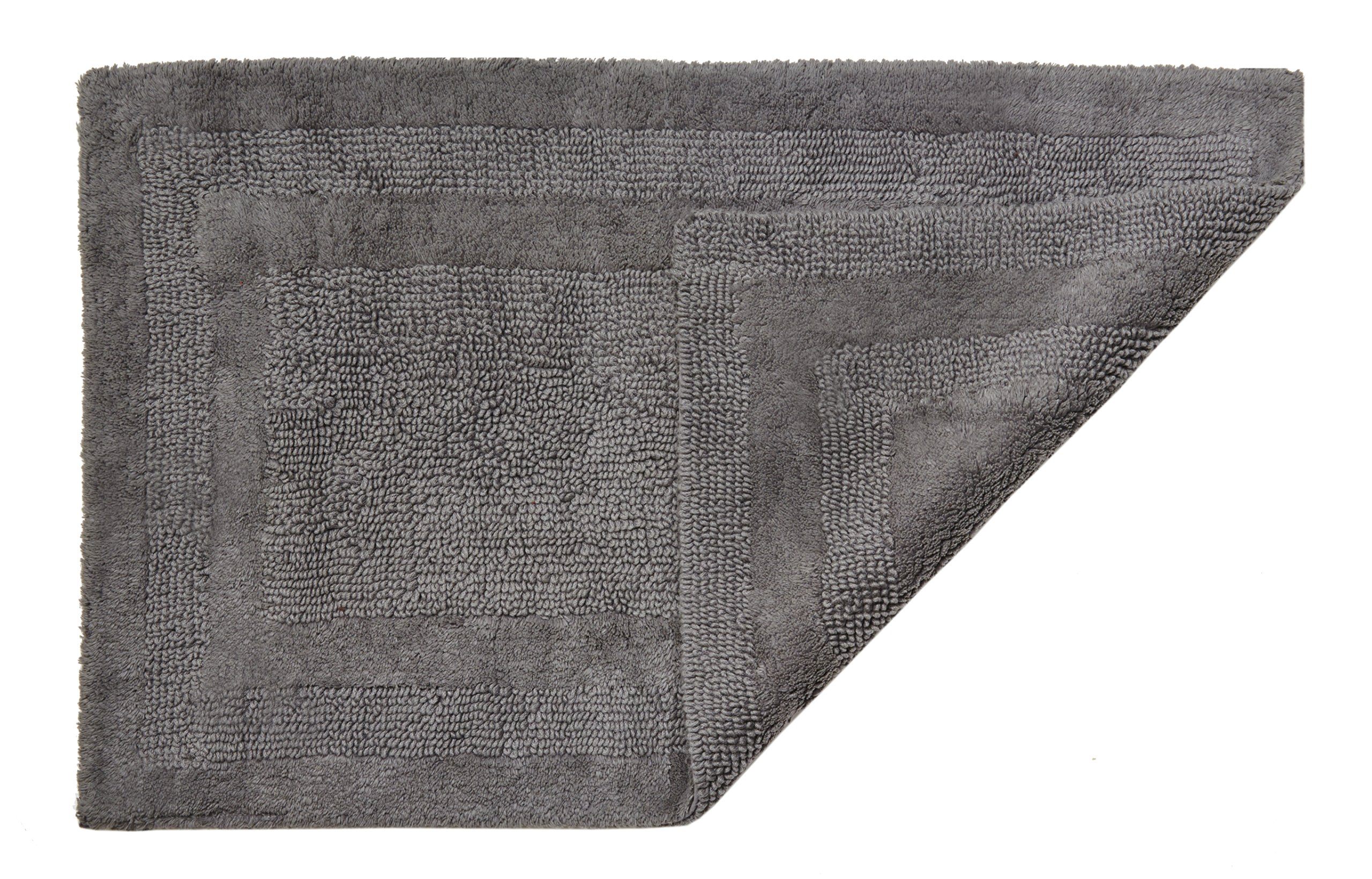 HygroSoft Reversible Fast Drying and Absorbent Bath Rug, 17 by 24-Inch, Pewter