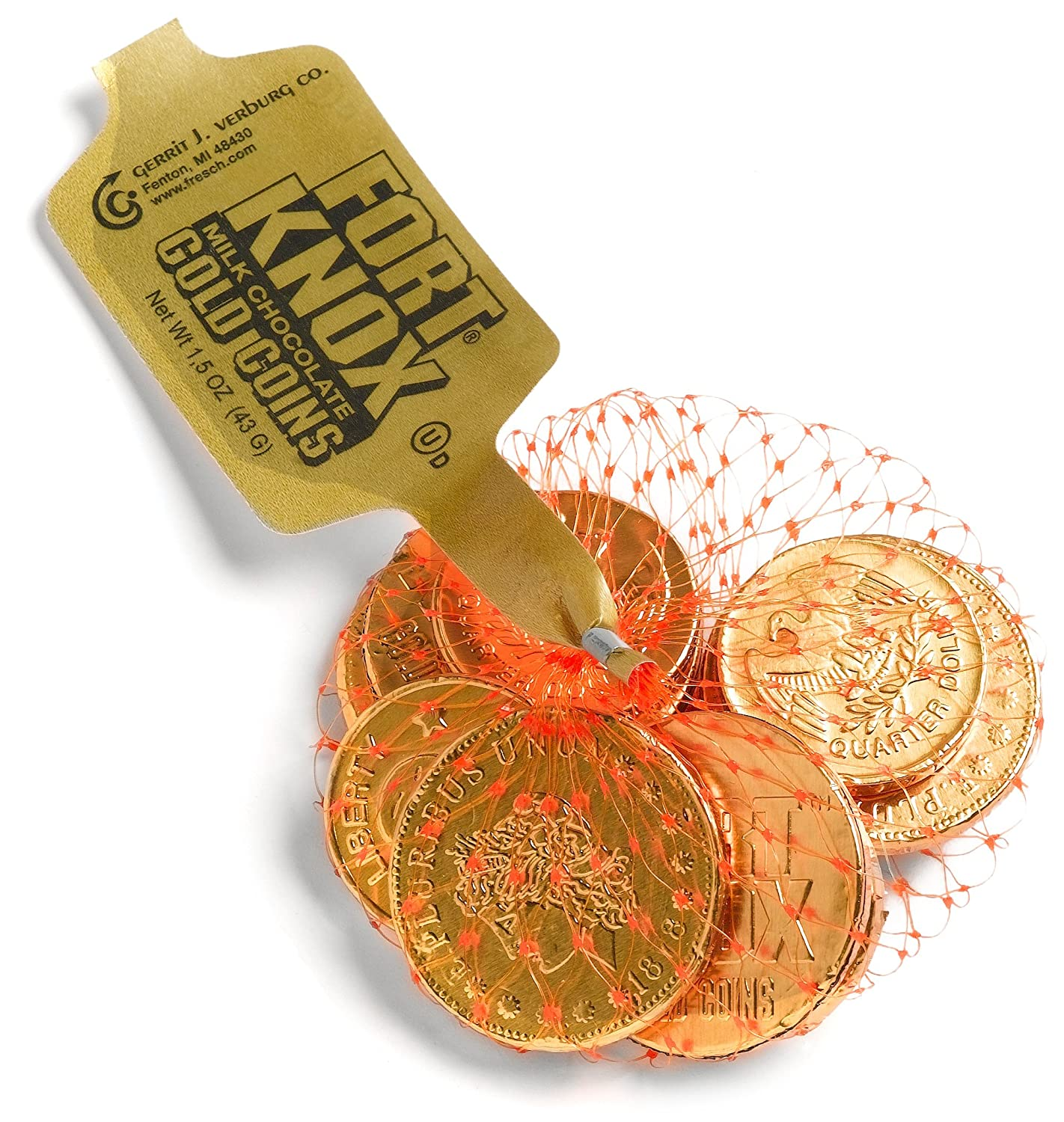 Amazon.com : Fort Knox Milk Chocolate Gold Coins, 1.5-Ounce ...