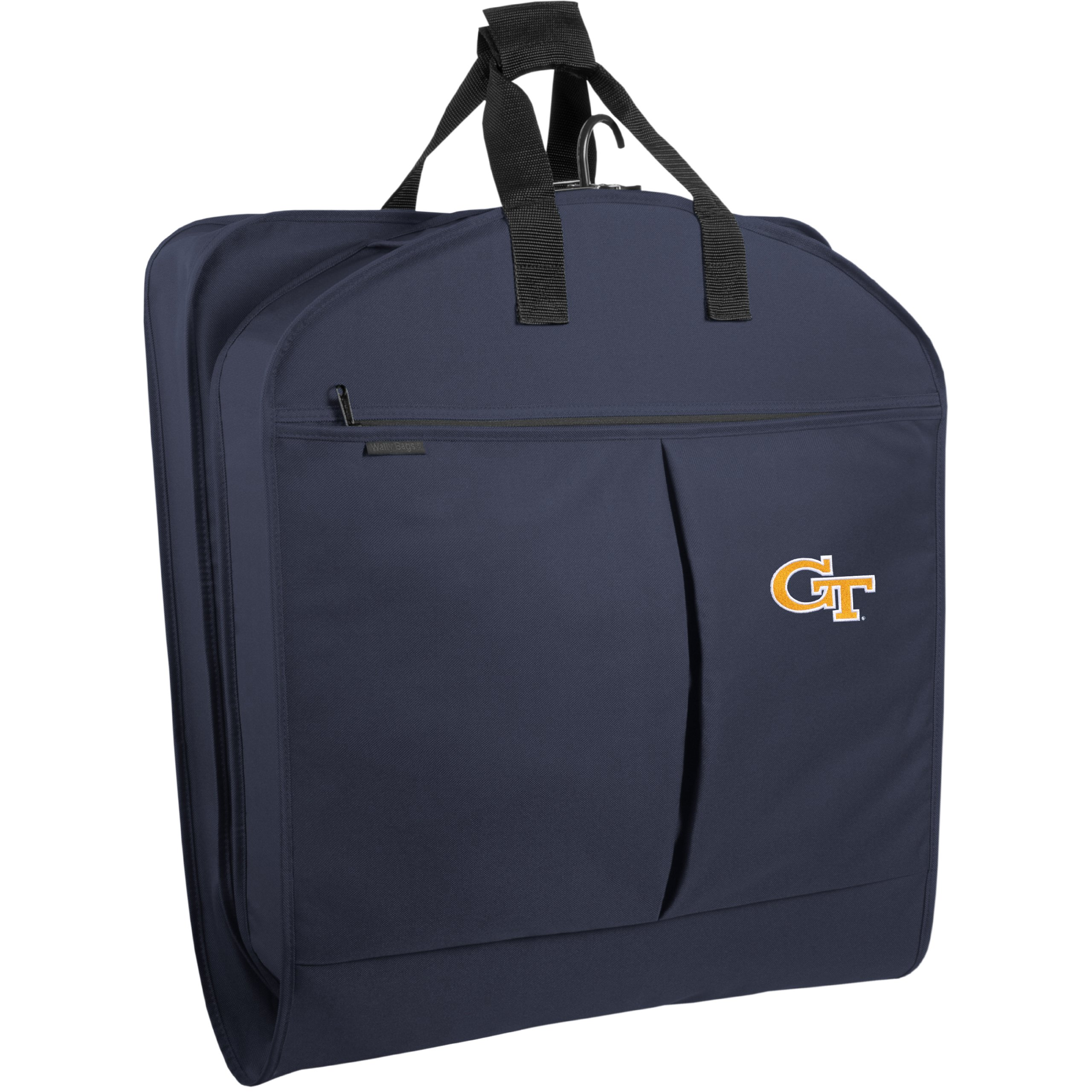 WallyBags Georgia Tech Yellow Jackets 40 Inch Suit Length Garment Bag with Pockets, Navy, One Size