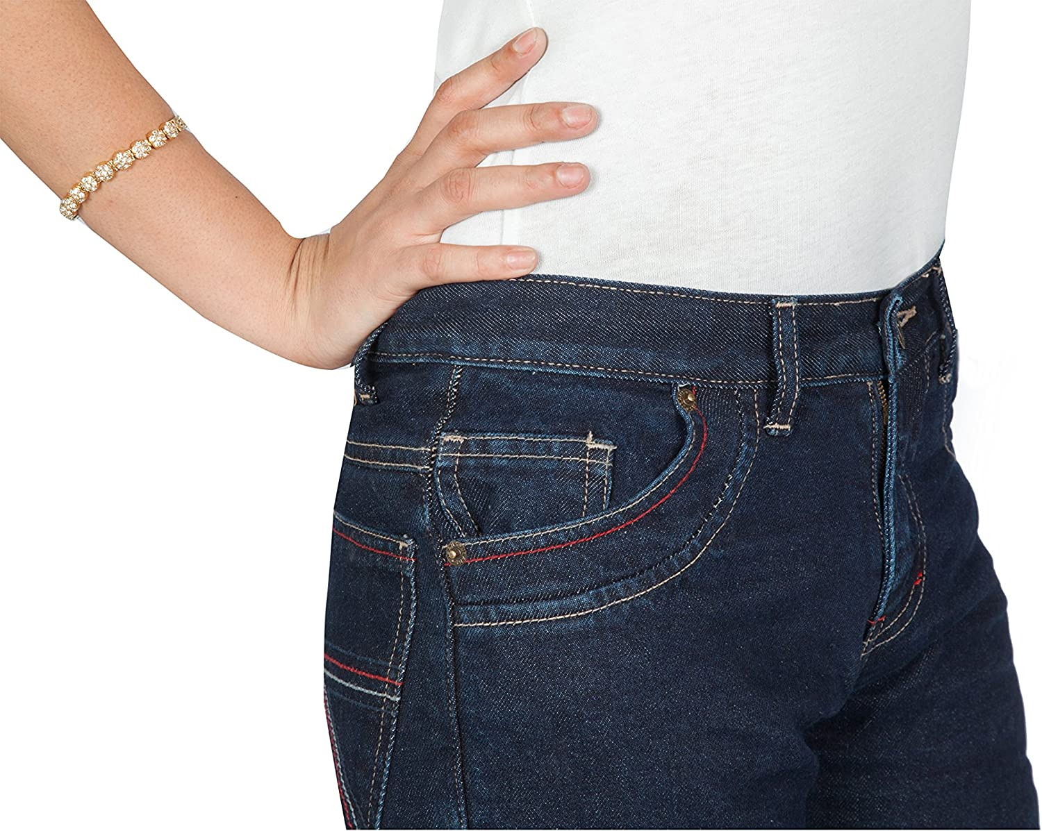 OneDayMore Hispar Pro Straight Fit Aramid Lined Ladies Motorcycle Jeans 8102.