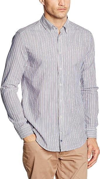 Pedro del Hierro Popelin Raya Dobby TB/D Camisa para Hombre