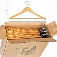 Pack of 60 High Quality Wooden Coat Hangers Suit Trouser Garments Clothes Coat Hanger Bar NEW
