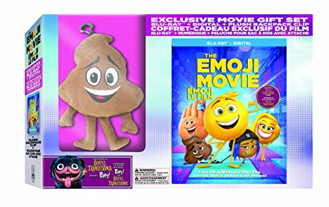 The Emoji Movie w/Poop Plush Bag Clip