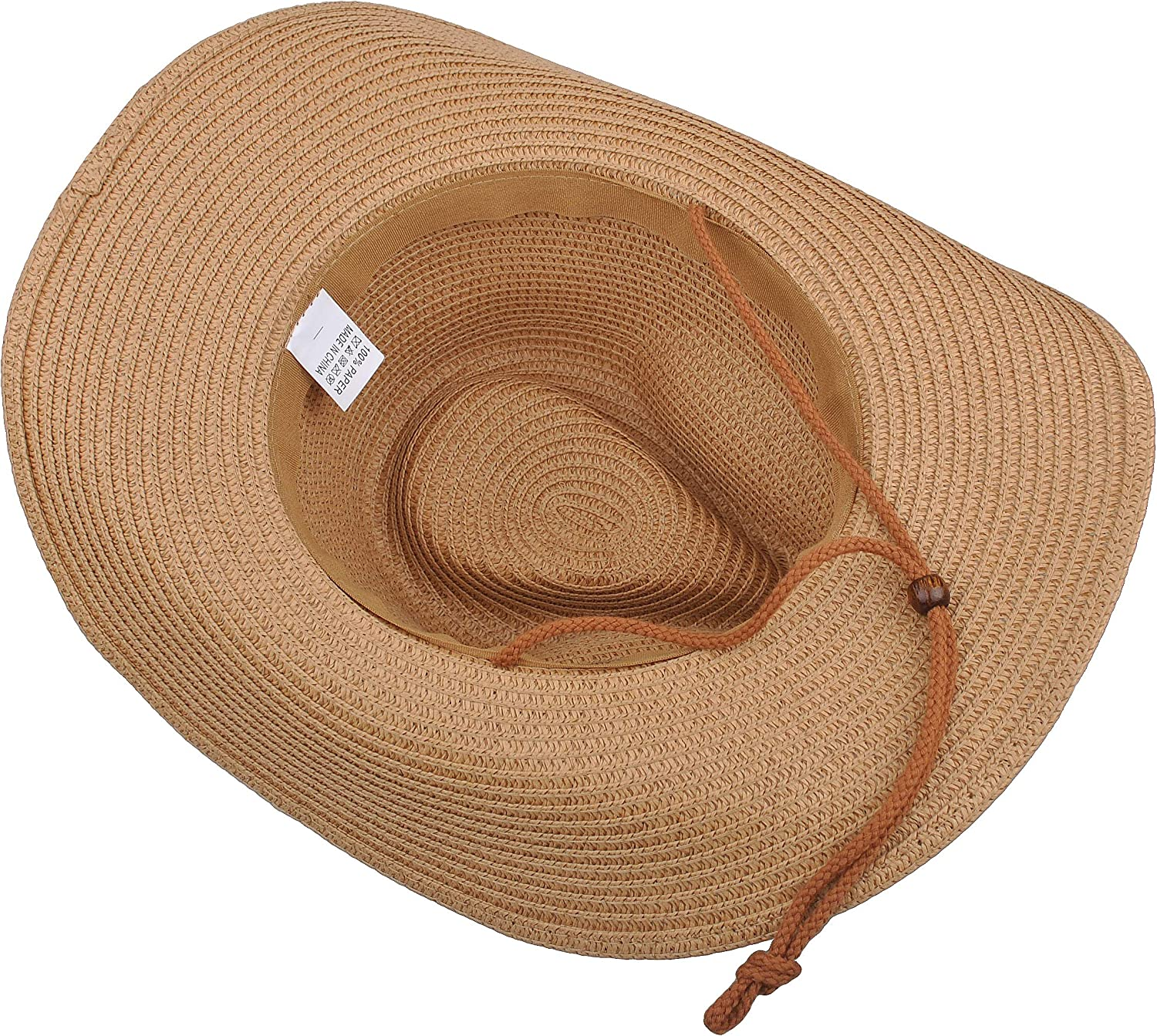 MISSMARCH Hipste Women Men Straw Western Cowboy Hat Handmade Weave Beach Sombrero Hombre Cowgirl Jazz Caps Pun Fishing Bike Holiday Beach Big hat Sun Sun Shade s