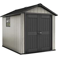 Keter Oakland 7.5 x 9 Outdoor Duotech Storage Shed (Grey)