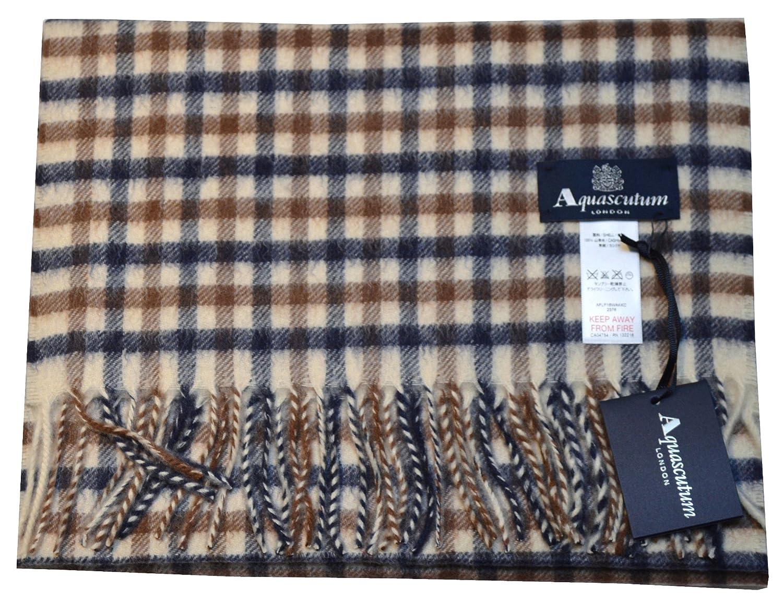 Aquascutum - Echarpe - Homme beige Housecheck Taille Unique  Amazon.fr   Vêtements et accessoires 450c4b5bb85