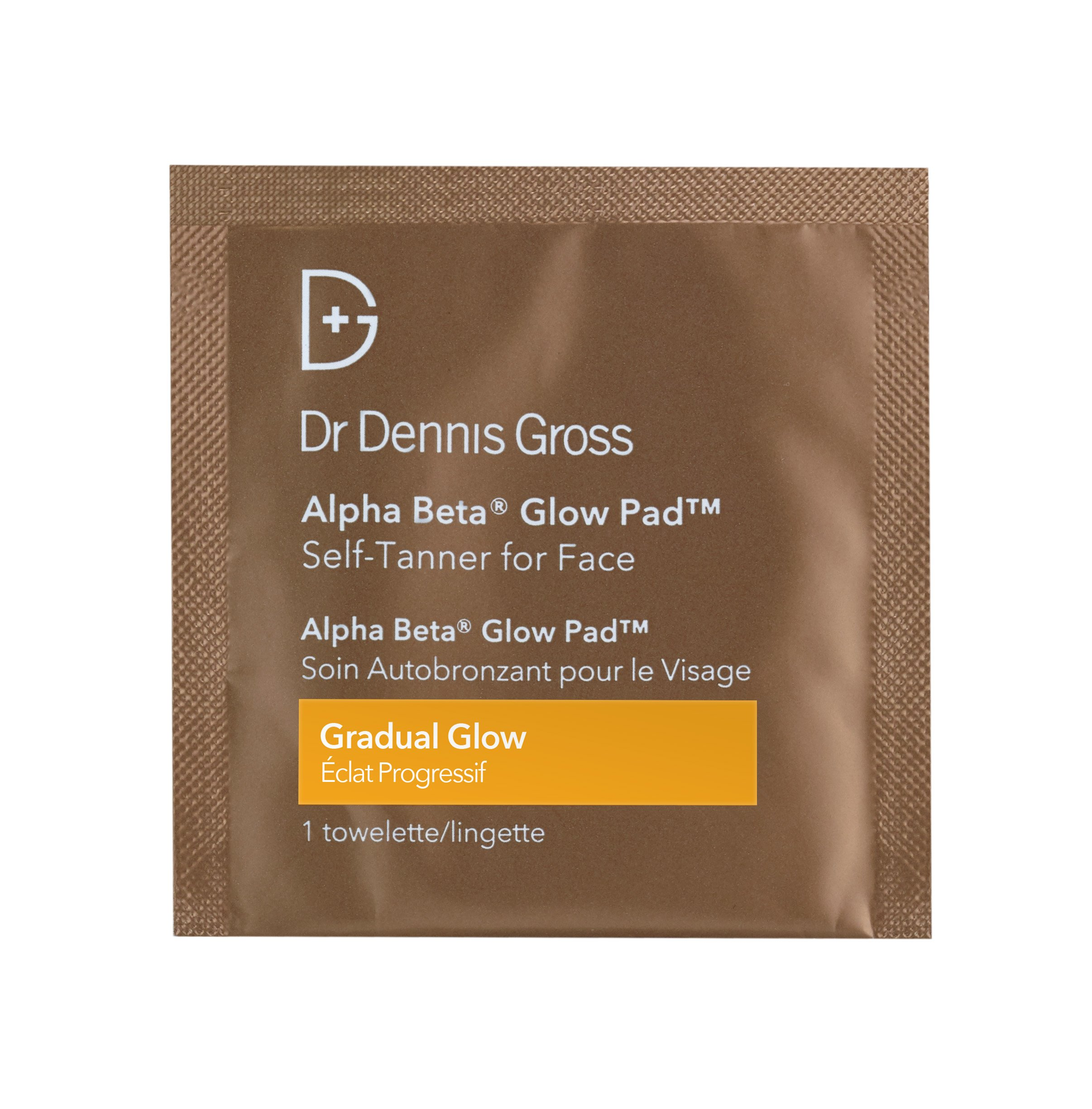 Dr. Dennis Gross Alpha Beta Glow Pad Self-Tanner for Face | Gradual Glow - 20 Towelettes .07 fLoZ / 2.2 mL each by Dr. Dennis Gross Skincare