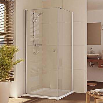 EchtGlas Mampara de ducha esquina. 80 x 80 h: 175/185/200 cm: Amazon.es: Bricolaje y herramientas