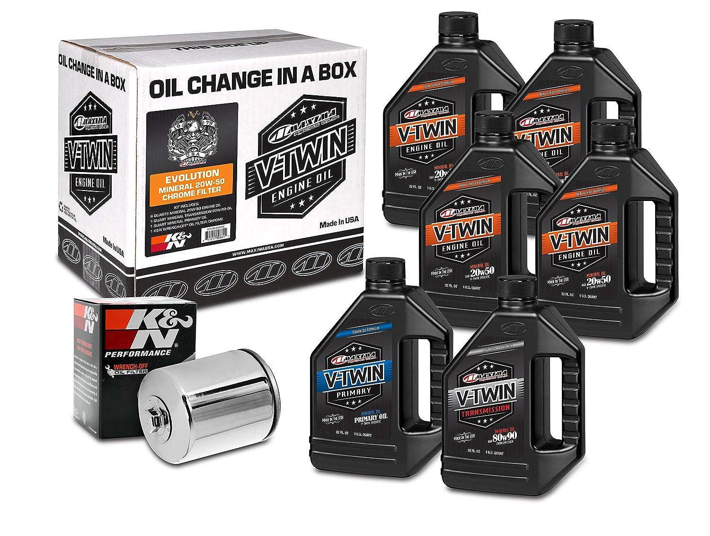 Maxima Racing Oils 90-069016C Chrome Maxima 90-069016C Evolution Mineral 20W-50 Chrome Filter Complete Oil Change Kit, 6 Quart, 1 Pack