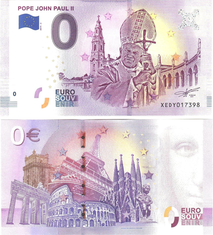 0 Euro Schein  Pope John Paul II  2019 Papst Johannes Paul II