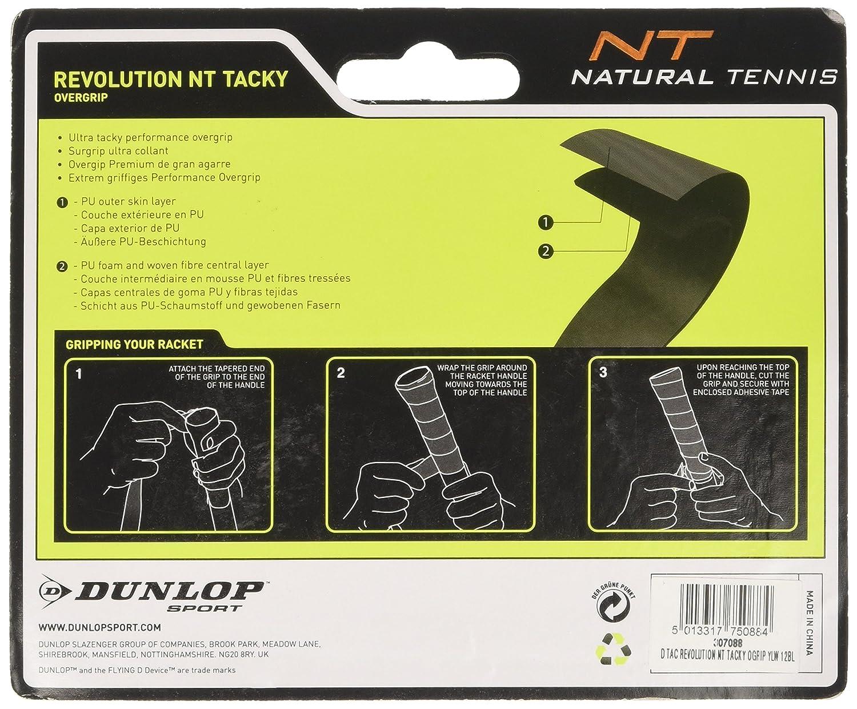 DUNLOP Over Grip Revolution NT Tacky 3 Unidades, Amarillo, One Size, 307088: Amazon.es: Deportes y aire libre