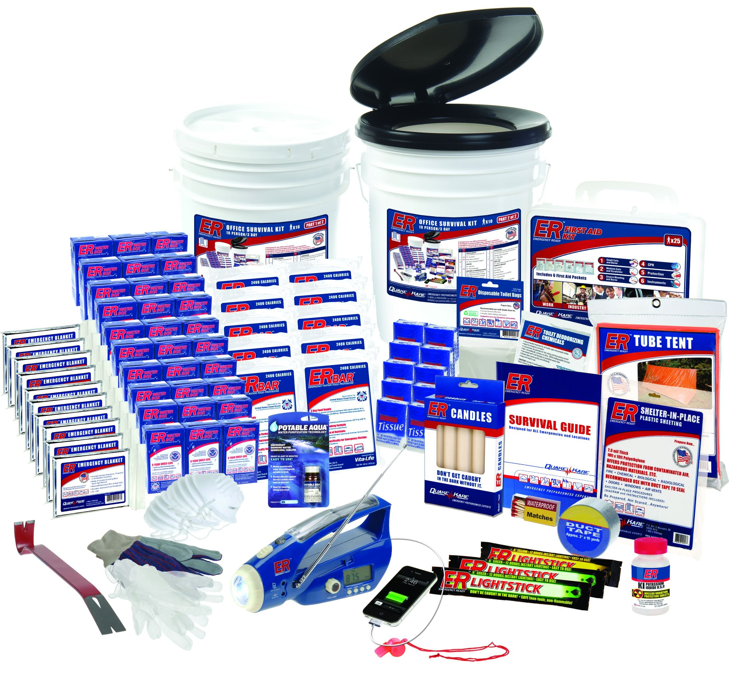 ER Emergency Ready SK10R 10 Person Ultimate Deluxe Survival Kit