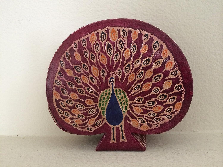 EthnicStudio | Juni Mukherjee | Hand-painted leather peacock coin bank