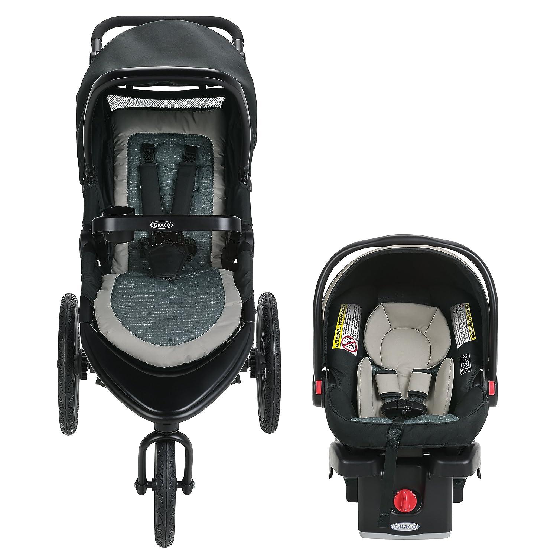 Graco Roadmaster Jogger Travel System Includes Roadmaster Jogging Stroller and SnugRide SnugLock 30 Infant Car Seat, Koda