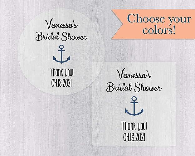 bridal shower favor stickers nautical bridal shower stickers bridal shower wedding labels