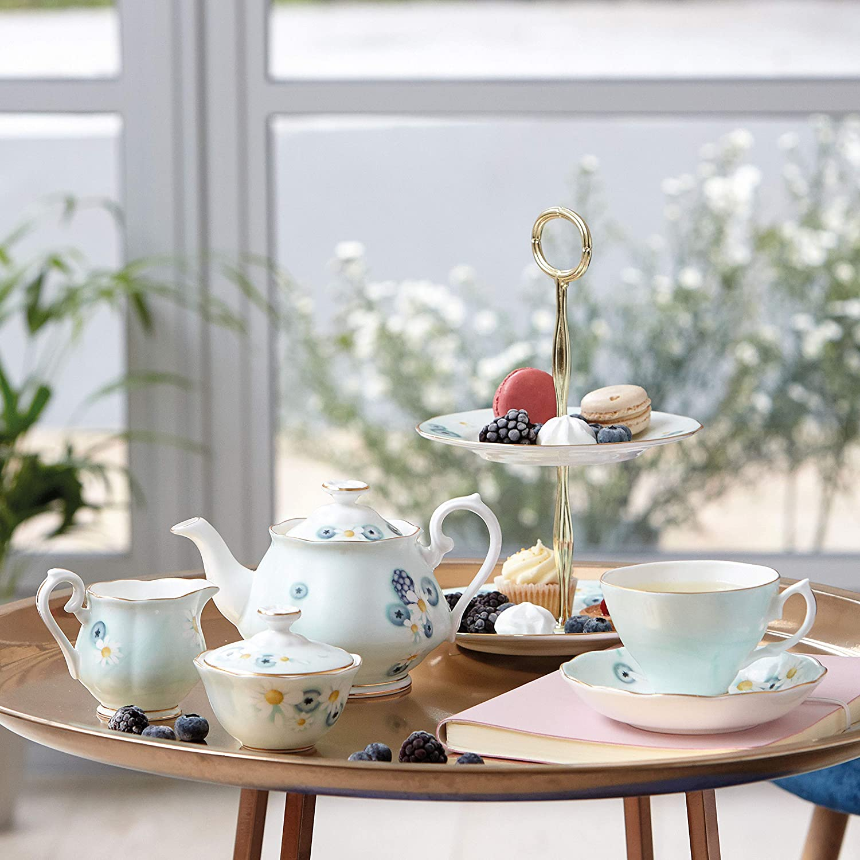 Royal Albert Alpha Foodie Mini Creamer /& Sugar Set Turquoise