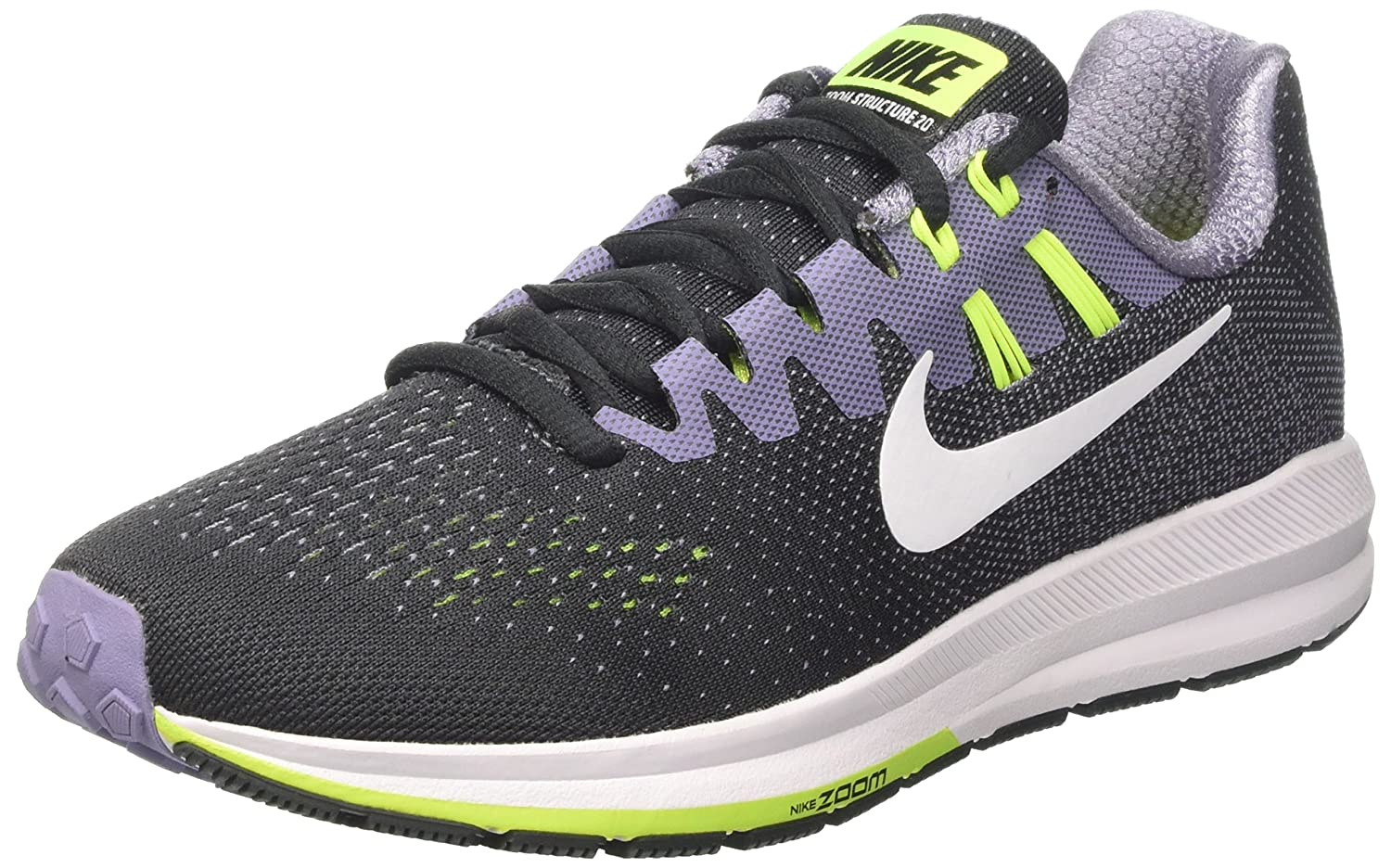 NIKE Womens Air Zoom Structure 20 Lightweight Fitness Running Shoes B06XSFBYQF 6.5 B(M) US|Anthracite