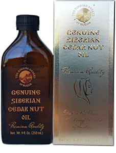 PREMIUM Siberian Pine Nut Oil - 8,5oz/250ml. Organic, Extra Virgin, Cold Press. Ringing Cedars of Russia Kin Domain's Gold Collection. Produced in Kin's Eco Settlement, Siberia, Russia.