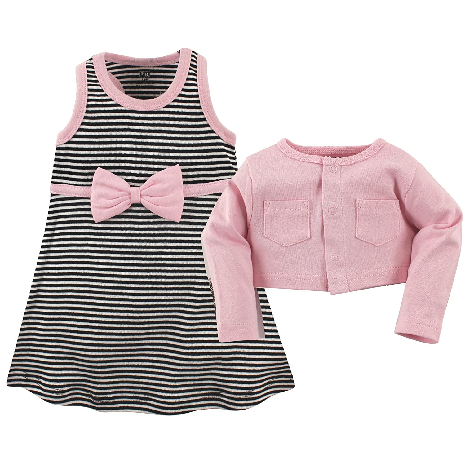 fb1f9bc02b79d Hudson Baby Baby Girls' Cropped Cardigan & Racerback Dress