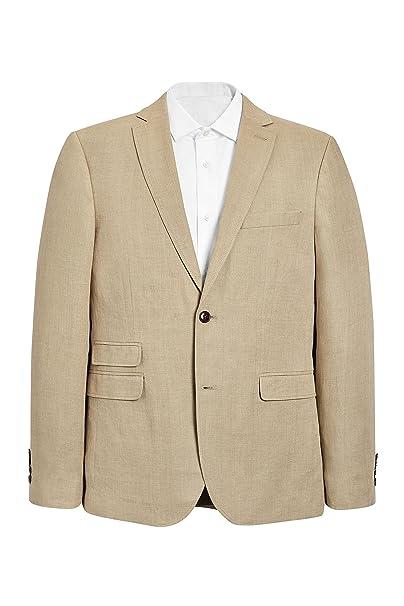 next Hombre Chaqueta Lino Textura Top EU 117 Long (UK 46L)