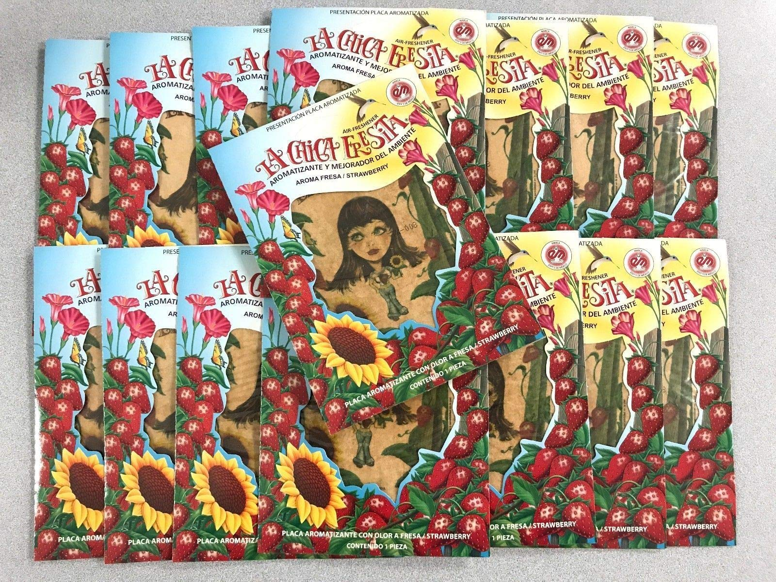 150PC LA CHICA FRESITA Car Air Freshener Strawberry Fresa Aroma BUNDLE