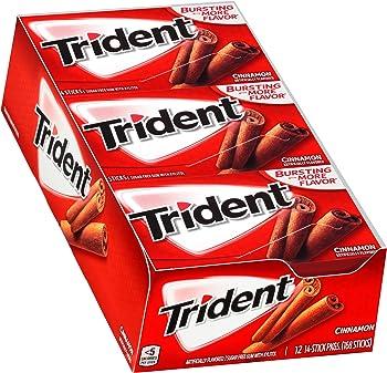 12-Packs Trident Cinnamon Sugar Free Gum with Xylitol